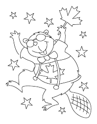 platypus coloring pages beaver dance on canada day coloring pages download u0026 print