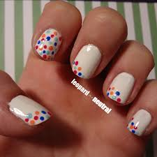 easy diy spring nail art whimsical polka dots leopard is a neutral