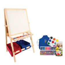 best art easel for kids children s wood easel w storage bins first impressions jerry s