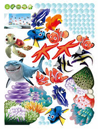 finding nemo cartoon wall stickers for kids rooms baby home see larger image