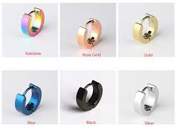 hypoallergenic earrings s men women s titanium steel hypoallergenic earrings fashion stud