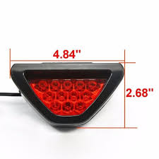 nissan rogue yellow triangle light car 3rd red strobe triangle brake taillights flash 12 led safety