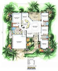mediterranean floor plans with courtyard mediterranean floor plan laverra house plan building ideas