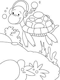 turtles morning walk music rock coloring pages download