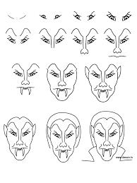 simple vampire drawing evenements halloween vampire 45192png