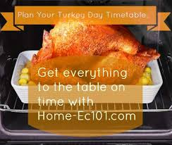 plan your thanksgiving thaw and cooking timetable home ec 101