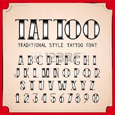 old tattoo style font vector traditional ink tattoo