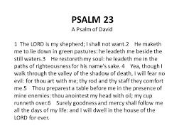 Thy Rod And Thy Staff Comfort Me Psalm 23 A Psalm Of David 1 The Lord Is My Shepherd I Shall Not