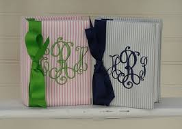 Monogrammed Photo Albums Personalized Brag Book For Babies