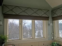 Mock Roman Shade Valance - so elegant and modern mock roman shade valance with contrasting