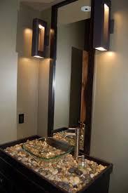 bathroom ideas small half bathroom ideas with clear vase sink and