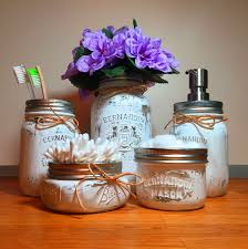 Mason Jar Bathroom Storage by White Mason Jar Bathroom Set U2014 Rustic Hustle