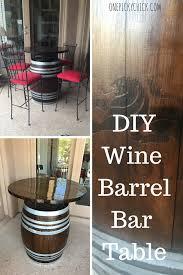 Wine Barrel Bar Table Wine Barrel Bar Table One Picky Chick