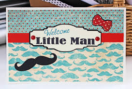 little man mustache baby shower welcome little man mustache card baby boy card new baby