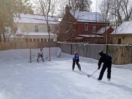 backyard hockey rinks range from simple to elaborate wtop