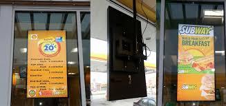 window posters theater lcd poster board solution