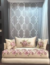 tissu canapé marocain decoration salon marocain avec tissu salon marocain nouveau