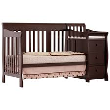 Crib Convertible To Toddler Bed by Stork Craft Portofino 4 In 1 Fixed Side Convertible Crib Changer