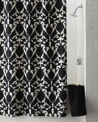 Black White Shower Curtain Floral Shower Curtain Neiman