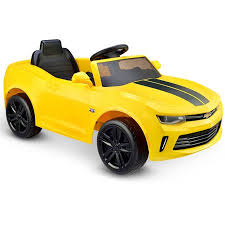 chevrolet camaro rs kid motorz racing camaro rs one seater in yellow 6v walmart com