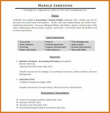 Relevant Experience Resume Sample by Accounting Major Resume Resume For Your Job Application