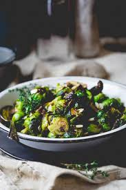thanksgiving brussel sprout recipes roasted brussels sprouts with balsamic and thyme healthy