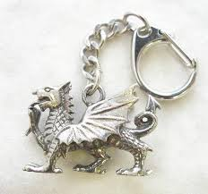 dragon key necklace images Welsh dragon key ring keychain in fine english pewter handmade jpg