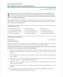 Executive Resumes Samples by Executive Resume Makeover Digital Media Executive Blue Sky