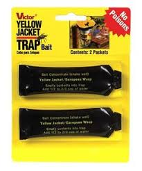 victor poison free 2pk victor poison free yellow jacket flying insect bee trap refill
