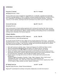 Sample Resume For Environmental Services by Resume William Chan 151125