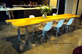 Dining Table Natural Wood Live Edge Dining Table This Table Is Made From A Single Ash Slat