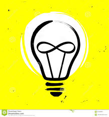 Infinity Led Light Bulbs by Light Bulb With Infinity Sign Vector Illustration Stock Vector