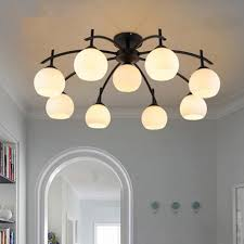 Country Kitchen Ceiling Lights by Modern Led Ceiling Lights Semi Flush Mount Ceiling Lamp American