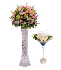Martini Glass Vase Flower Arrangement Pick Of The Bunch Tie The Knot Scotland
