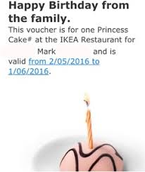 Ikea Birthday Free Princess Cake On Your Birthday Month With Ikea Family