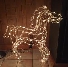 wire frame clips for christmas lights customer photo lighting up wire frame horses