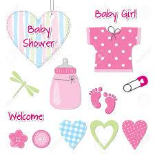 baby shower card scrapbook design elements royalty free