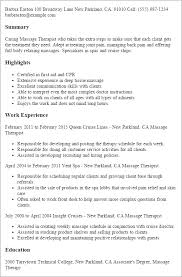 Massage Therapy Resumes Resume Database Free Resume Template And Professional Resume