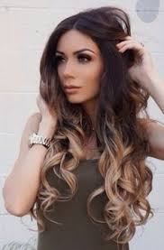 darker hair on top lighter on bottom is called a rich and shiny brunette base with dark caramel sunkisses color