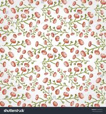 botanical wrapping paper seamless berry pattern tiled vector stock vector 523822918