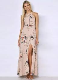 floral dresses halter neck floral print maxi dress oasap