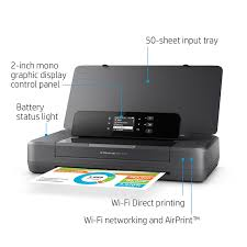 amazon com hp officejet 200 portable printer with wireless