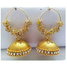 thread earrings silk thread earrings at rs 100 pair silk thread earrings id