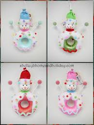 candy ornaments candy christmas snowman donut ornaments shelley b home and
