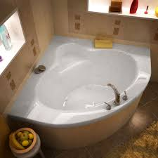 high gloss white finish center drain interior of tub is oval shape