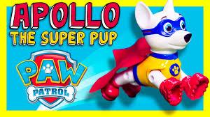 paw patrol nickelodeon apollo super pup super paw patrol