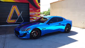 black maserati sports car maserati gran turismo sport avery blue chrome w carbon fiber