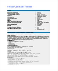 Resume Template For Internship Journalist Resume Template 5 Free Word Pdf Document Download