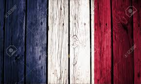French Flag Background France Flag Painted On Old Wood Background Stock Photo Picture