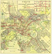 Las Vegas Tram Map Historical Map Perth And Suburban Districts Transit Maps